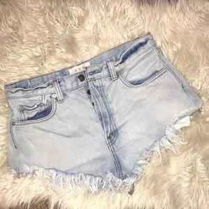 We The Free frayed hem shorts